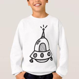 Wellcoda UFO-alien-Raumschiff-Zukunft-Flug Sweatshirt