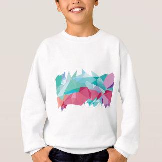 Wellcoda verrückte abstrakte Form-zukünftiges Sweatshirt