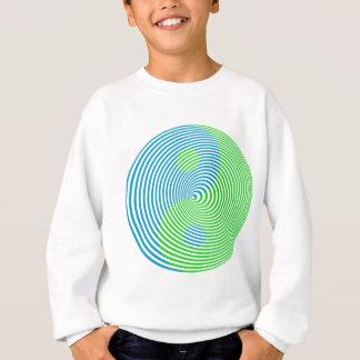 Wellcoda visuelle Verwirrung cooler Yin Yang Sweatshirt