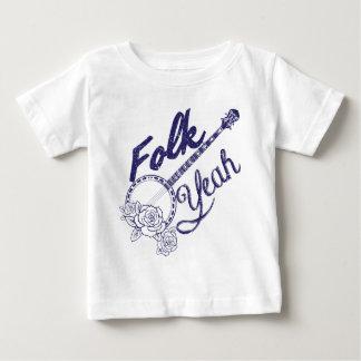 Wellcoda Volk-Yeah Musik-lustige Banjo-Rose Baby T-shirt