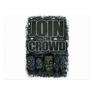 Wellcoda Zombie-Monster-Menge absolut beängstigend Postkarte
