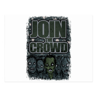 Wellcoda Zombie-Monster-Menge absolut beängstigend Postkarten