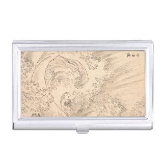 Welle Katsushika Hokusai Vintage waterscape Kunst Visitenkarten Etui