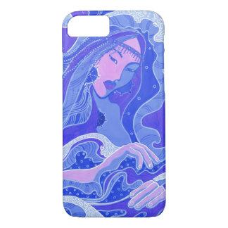 Welle, Meerjungfrau, Fantasie-Kunst-asiatisches iPhone 8/7 Hülle