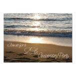 Welle Sonnenuntergang-an der 25. Jahrestags-Einlad Personalisierte Einladungskarte