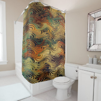 Welle von Farben Duschvorhang
