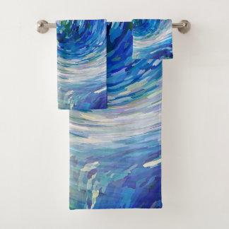 Welle zu Van Gogh Badhandtuch Set
