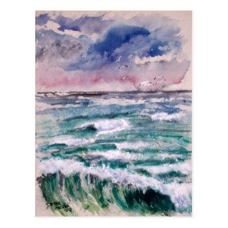 Wellen-Abbruch Postkarte