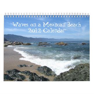 Wellen auf einem mexikanischen Strand Wandkalender