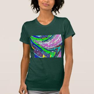 WELLEN-BUNTE SPEKTRUM-MUSTER-SHIRT-ENERGIE T-Shirt