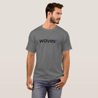Wellen Cryptocurrency Blockchain Grau-T - Shirt