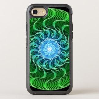 Wellen der grünen Mandala OtterBox Symmetry iPhone 8/7 Hülle