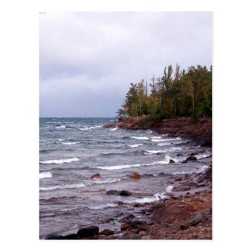 Wellen des Oberen Sees Postkarte