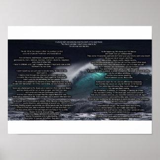Wellen des Sorgenplakats Poster
