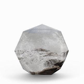 Wellen, die auf Felsen brechen Auszeichnung