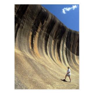Wellen-Felsen, Western Australien Postkarte
