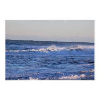 Wellen-hohe Gezeiten-Foto Poster
