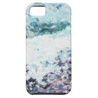 Wellen hüllen am Ufer - Malerei - Kunstgeschenk -