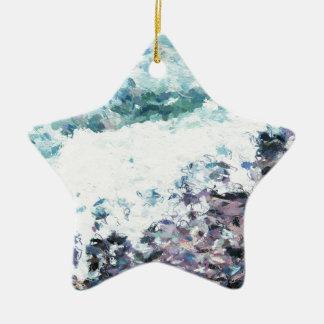 Wellen hüllen am Ufer - Malerei - Kunstgeschenk - Keramik Ornament