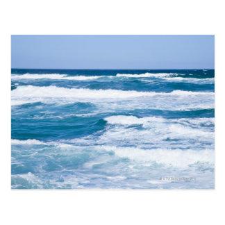 Wellen im Mittelmeer, Mallorca, Spanien Postkarte