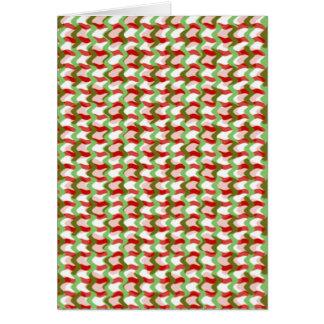 Wellen: Karo-grünes rotes Gelb addieren Text-Bild Karte