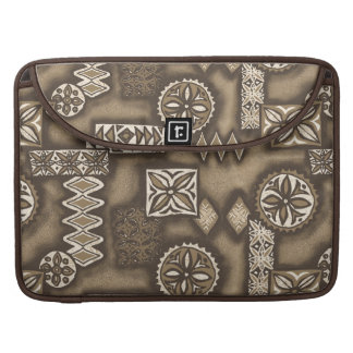 Wellen-Kriegerhawaiischer MacBook Pro Sleeve