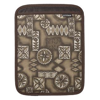 Wellen-Kriegerhawaiischer Tapa-Rickshaw iPad Fall iPad Sleeve