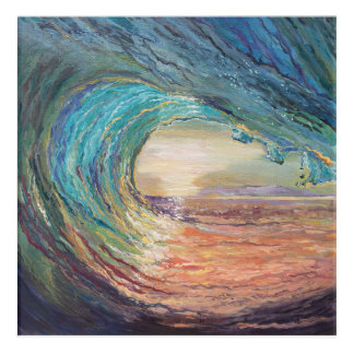 Wellen-Malerei Acryldruck
