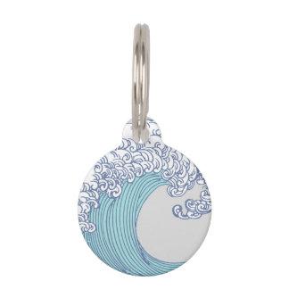 Wellen-Ozean-Brandungs-Kunst-Druck-asiatischer Haustiermarke