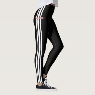Wellen-Rennläufer-Gamaschen - weiße Leggings