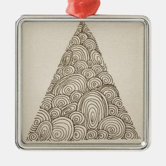 Wellen Silbernes Ornament