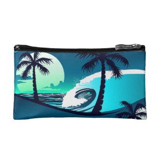 Wellen und Palmen Kosmetiktasche