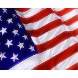 Wellenartig bewegende amerikanische Flagge Photofigur