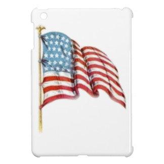 Wellenartig bewegende amerikanische Flagge Hüllen Für iPad Mini