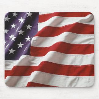 Wellenartig bewegende amerikanische Flagge Mousepa Mousepads