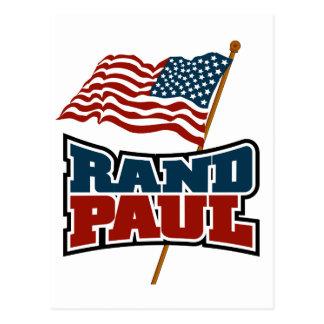 Wellenartig bewegende amerikanische Flagge Postkarte