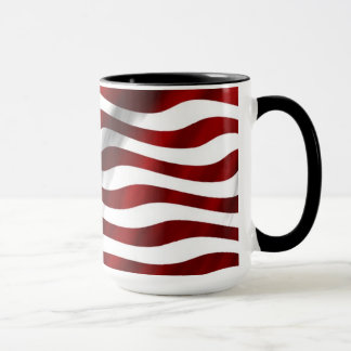 Wellenartig bewegende amerikanische Flagge Tasse