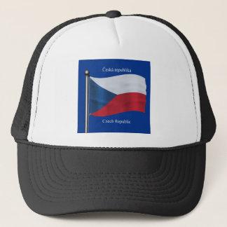 Wellenartig bewegende Flagge der Tschechischen Truckerkappe