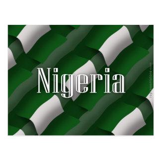 Wellenartig bewegende Flagge Nigerias Postkarte