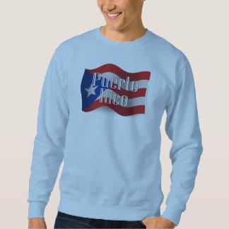 Wellenartig bewegende Flagge Puertos Rico Sweatshirt