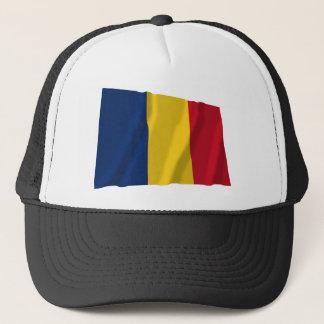 Wellenartig bewegende Flagge Tschads Truckerkappe
