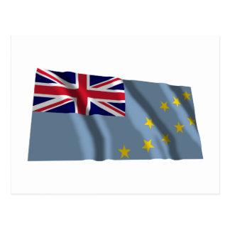 Wellenartig bewegende Flagge Tuvalus Postkarte
