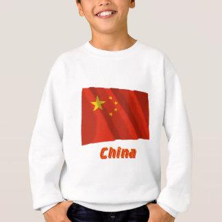 Wellenartig bewegende Flagge Volksrepublik China Sweatshirt