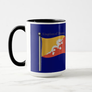 Wellenartig bewegende Flagge von Bhutan Tasse