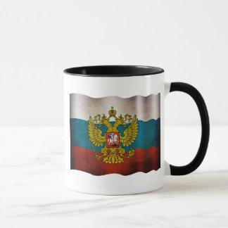 Wellenartig bewegende Flagge von Russland Tasse