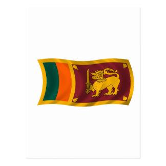 Wellenartig bewegende Flagge von Sri Lanka Postkarte