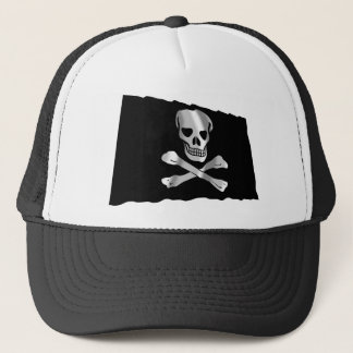 Wellenartig bewegende Piraten-Flagge Truckerkappe