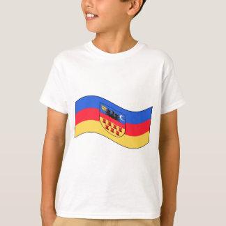 Wellenartig bewegende Siebenbürgen-Flagge T-Shirt