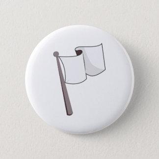 Wellenartig bewegende weiße Flagge Runder Button 5,7 Cm