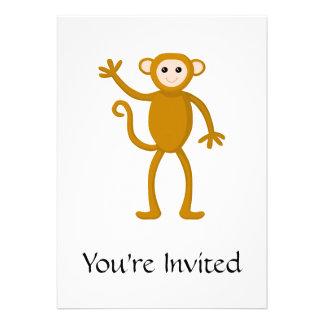 Wellenartig bewegender Affe Einladung